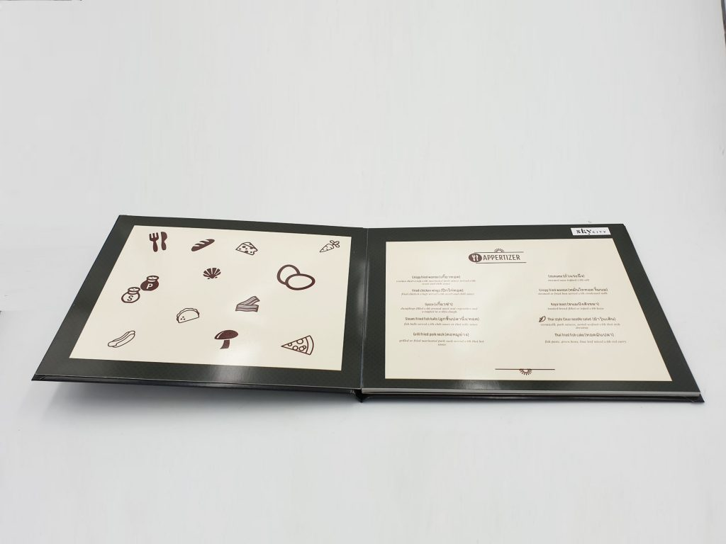 เมนูอาหารเปิดแบบปีกผีเสื้อกางได้ 180 องศา