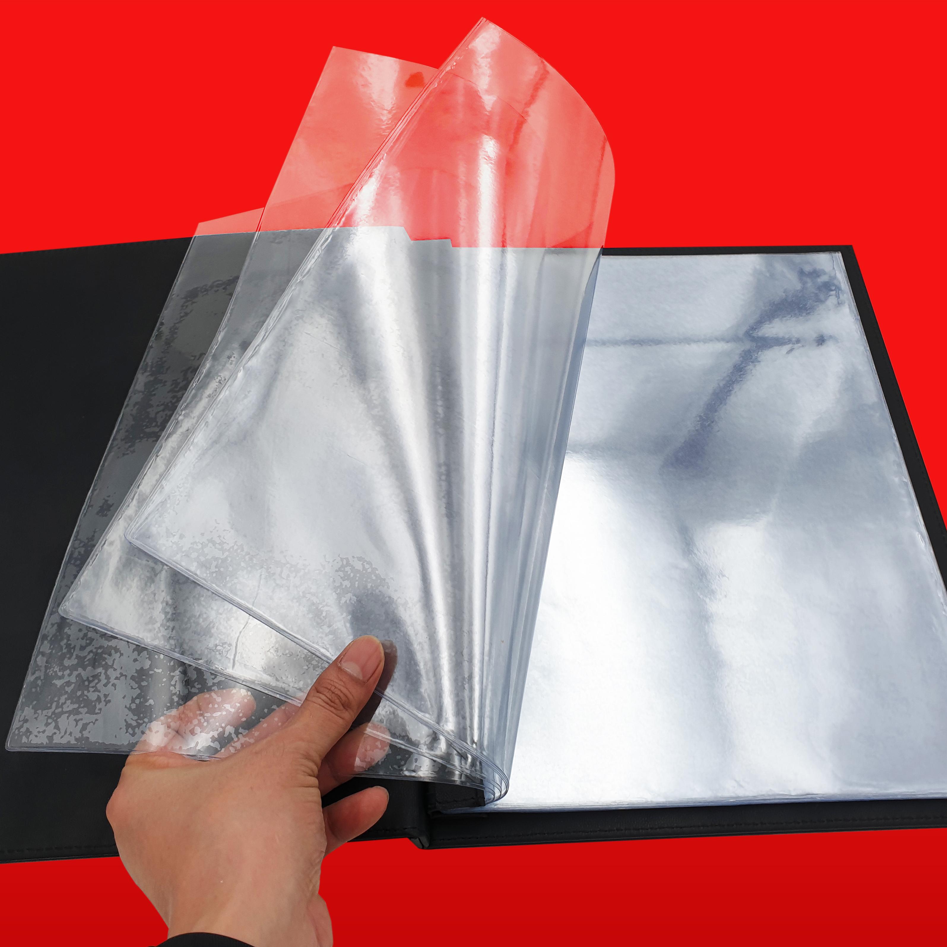 ปกหนังสั่งผลิต ซองพลาสติกหนาพิเศษ, ซองพลาสติกใส่เมนูอาหาร, ซองพลาสติกปกหนัง, เล่มปกหนัง