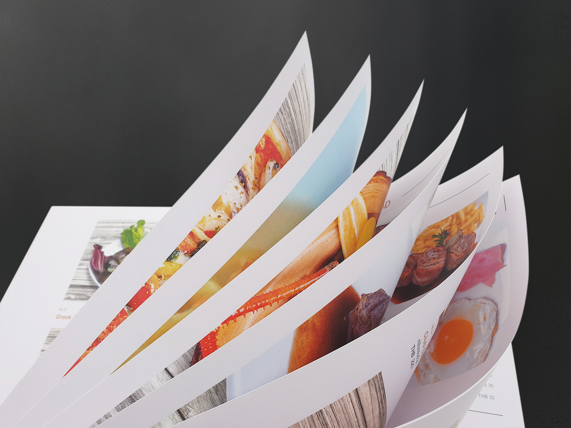 กระดาษที่ใช้ในการพิมพ์เมนูอาหาร